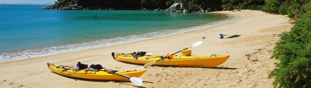 Kayaking in Abel Tasman National park, New Zealand